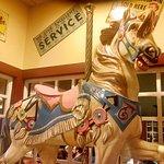 Merri-go-round horse over waitress station