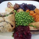 Toby Carvery was great , Vegan Wellington sadly dry & over cooked