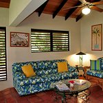 Villas have louvered and screened windows with lots of fans.