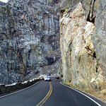 You are in a long steep canyon ...fun for a geologist!
