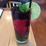 The RSC Blueberry Mojito is amazing. Both delicious and a beautiful presentation.