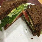 This is a busy cafe with a range of both hot and cold lunch food. There's a good selection and e