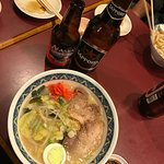 Ramen and Alaskan Amber are good, but couldn't pass up the Sapporo :)