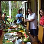 boodle feast prepared for our group!