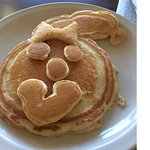 Today when I ordered a pancake with my eggs, the cook sent out this. Lovely!