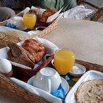 Breakfast in the atrium alcove