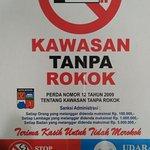 Separated Smoking and Non-Smoking area