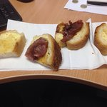 This is a bacon sandwich from Sadies this morning. One rasher of bacon!!! I have never had such