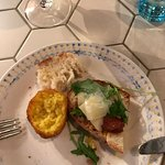 My appetiser plate - great bread and melt in mouth arancini