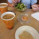Salad & Cookie & Iced Coffees