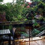 rainy day view @ Firefly. Cozy!!
