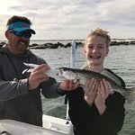All smiles about catching a speckled trout!
