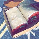 Salmon and Greek Yoghurt Wrap made to order