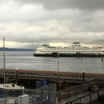 Sometimes it's an overcast day - but still fun to watch the ferry!