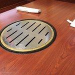 Japanese styled table near sushi bar