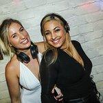 Female DJ's Yazmin and Natalie Sax