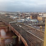 view of the Clyde and Glasgow central