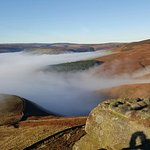 Above Ladybower Lake and the clouds !!