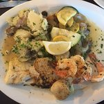 Suppertime! Gator, broiled seafood, key lime pie