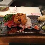 a great signature menu of the place. fresh salmon roe / uni !