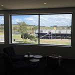 Love the lounge and 100% best view of the race tracks.  Thumbs are way up.