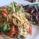 Lunch special-rice noodles, spare ribs, veggies