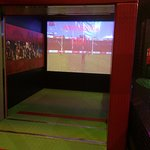 Interactive activities for all ages. Goal kicking