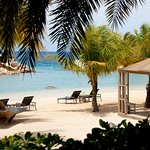 The resort's private beach offers butler service