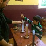 Testing the sugar content of water vs. grape juice vs. wine.