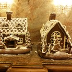 Gingerbread houses in the lobby