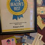 A well recognized pride in service acknowledged with Awards posted prominently