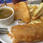 Cod Chips & Curry sauce