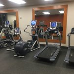 Photo of gym...equipment was new.