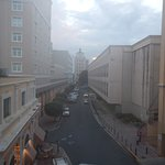 View down Calle Comercio from our room