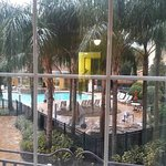 This was the nice view of the pool area from my room 203. As you can see pool area very clean.