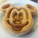 Regular waffles as well as kid friendly waffles available in small and large sizes.