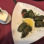 Dolma (grape leaves filled with rice and meat)
