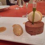 Aveline chocolat et glace caramel / macaron
