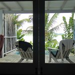 View from our bed, right out the sliding glass doors was the glorious Caribbean