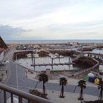 Vista del puerto desde el balcón de la habitación.