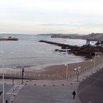 Vista de la playa desde la habitación.