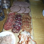 Charcuterie platter was very, very good.