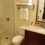 Bathroom with walk-in shower, no tub King room 4200B