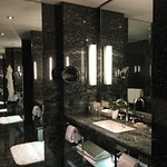 luxurious vanity with mirrors everywhere!