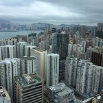 View over crowded Hong Kong Island from the 180 Restaurant