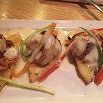 grilled shrimp over pineapple slices