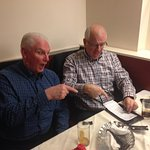 """MIKE AND JOHN WITH THE YORKSHIRE WAR CRY AT RED PEPPER OTLEY -""""HOW MUCH"""" !!!!"""