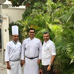 With Junior Sous Chef Arun & Executive Chef Mridul