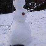 This snowman has a big heart