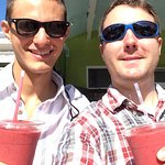 Organic fresh fruit smoothies from down the street